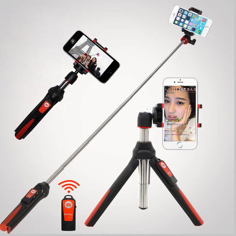 4 in 1 Wireless Bluetooth Remote Extendable Selfie Stick Monopod Mini Tripod Phone Stand Holder Mount for iPhone 8 Android Gopro