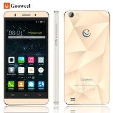 D'origine Gooweel M5 Pro mobile téléphone MTK6580 quad core 5 pouce IPS écran smartphone 5MP/8MP caméra GPS 3G téléphone portable Cadeau Gratuit