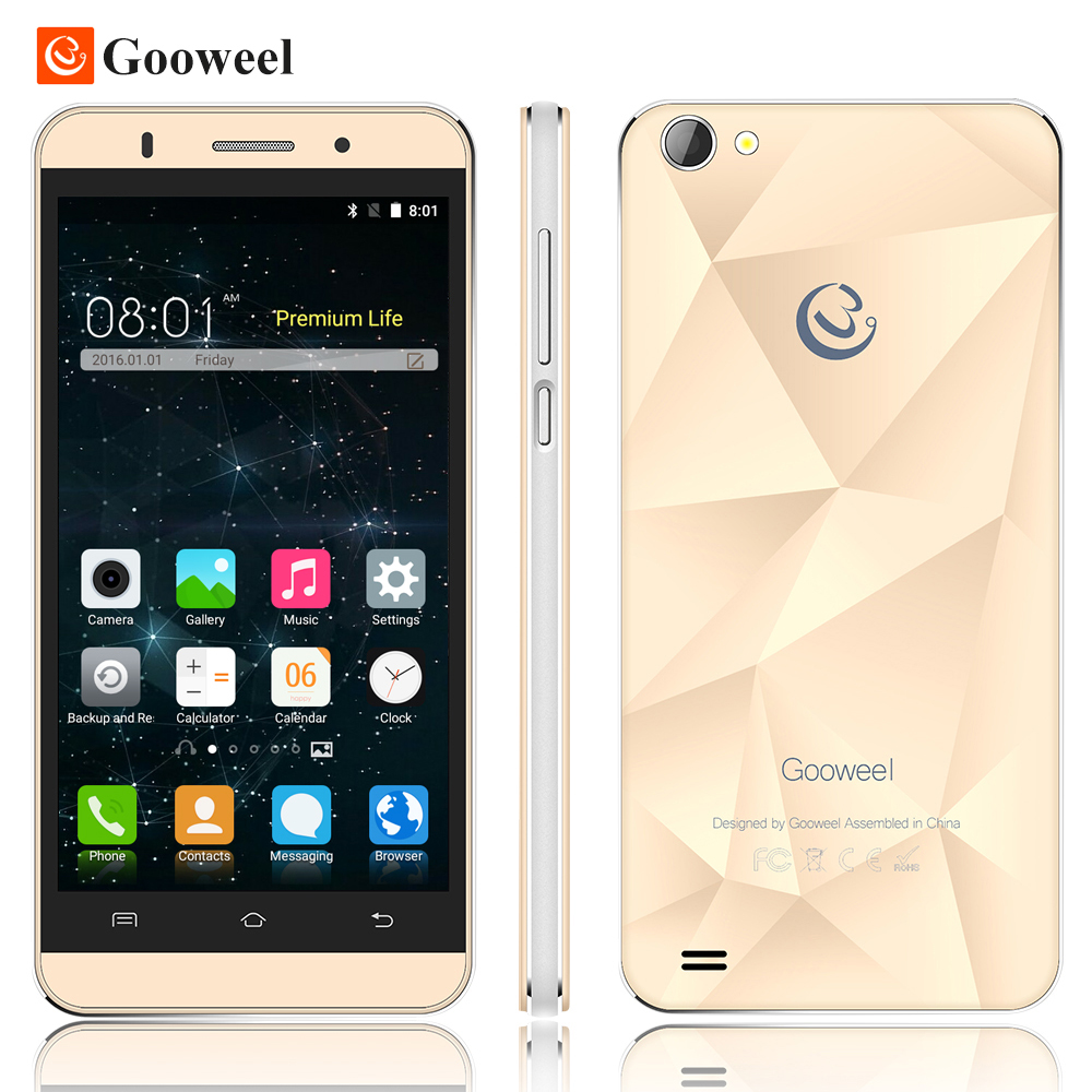 Original Gooweel M5 Pro mobile phone MTK6580 quad core 5 inch IPS screen smartphone 5MP 8MP