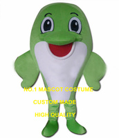 green dolphin mascot costume for adult new custom marine sea animal whale theme anime cosplay costumes carnival fancy dress 2858