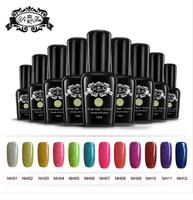 Colorful Neon Nail Gel System Soak Off 15ml Uv Nail Gel Soak Off 12colors With The