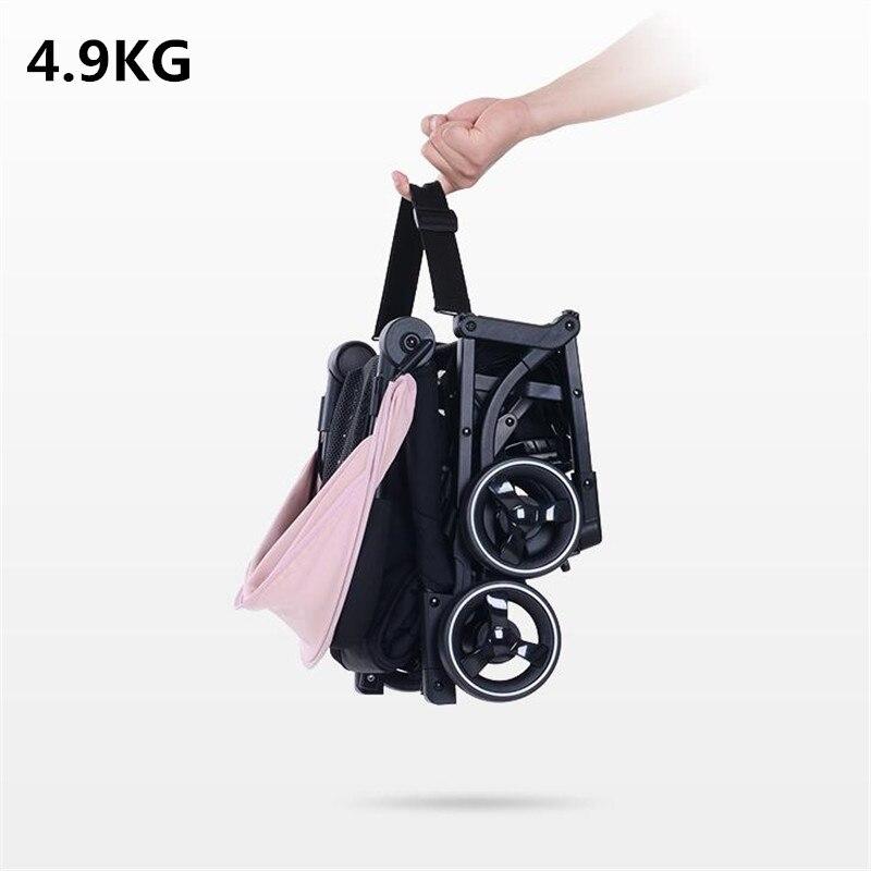 Luxury pocket 4.9kg Baby Stroller light folding umbrella portable on the airplane bebek arabasi kinderwagen