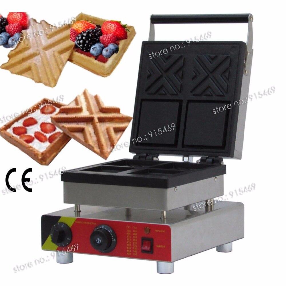 Livraison Gratuite Usage Commercial Non-bâton 110 v 220 v Électrique Sandwich Gaufre Bol Maker Baker Moule Machine