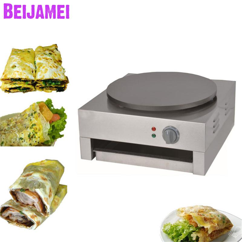 BEIJAMEI Single commercial crepe maker machine electric pancake maker Machine pancakes and crepe machine priceBEIJAMEI Single commercial crepe maker machine electric pancake maker Machine pancakes and crepe machine price