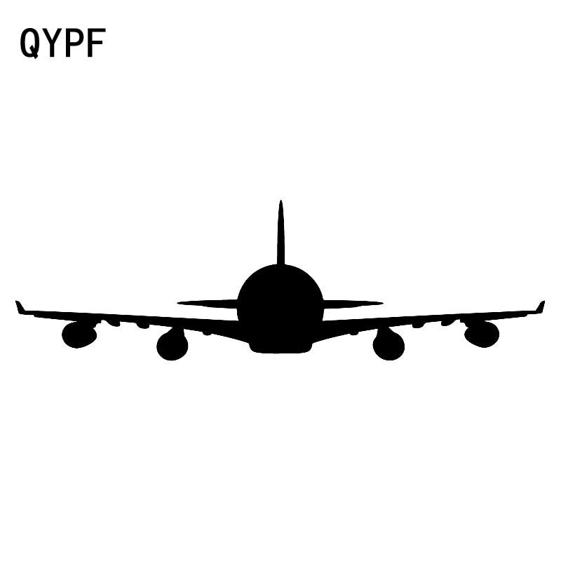 QYPF 18.8cm*5.5cm Cartoon Interesting Transparent Animation Plane Car Sticker Vivid Vinyl Decal Special Pattern C18-0774