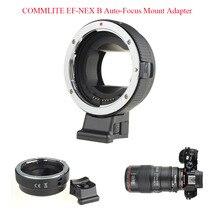 Commlite автофокусом Адаптер EF-NEX для Canon EF к Sony NEX Крепление для NEX-5 NEX-5R nex-5t NEX-5C NEX-6 NEX-7 A7 A7R a7s