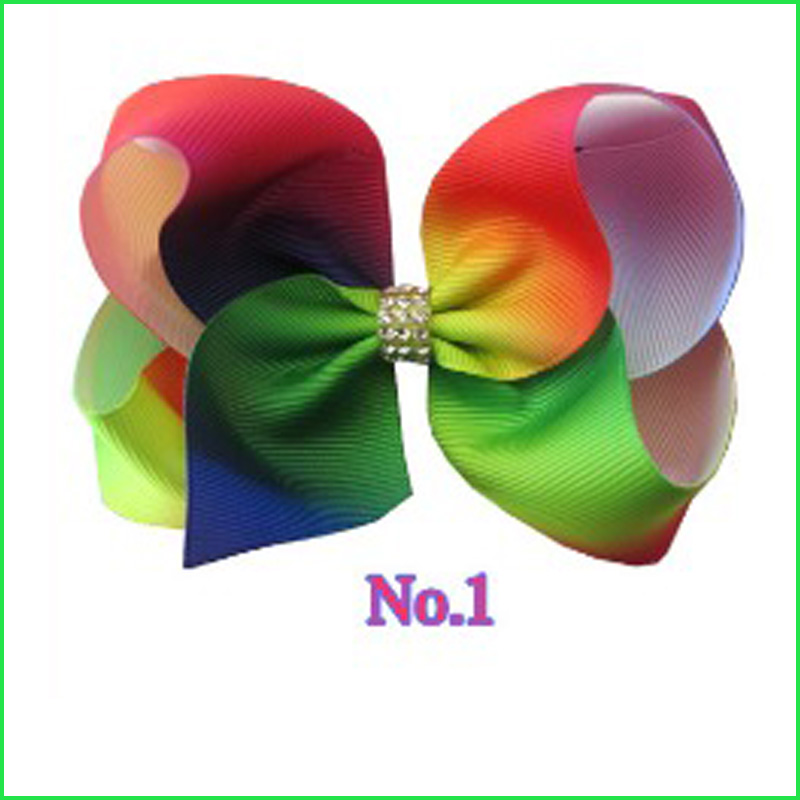 50 BLESSING Good Girl Boutique Modern Style Rainbow Bird/'s Nest Hair Bow Clip