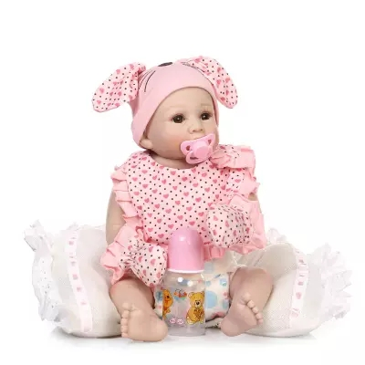 50cm full silicone baby reborn dolls Hand painted sumilation newborn can bath baby bebe brinquedos 0cm in diameter large space baby hand footed printing mud set newborn baby hand and foot print hundred days old gift souvenir