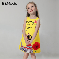 Casual Girl Dress Sleeveless Princess Dress For Girls Clothes Hot Kids Clothing Print Children Dresses Summer