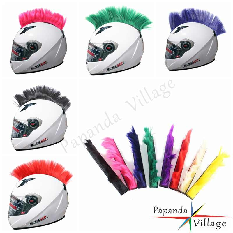 Motocross Racing Multi-Color Helmet Mohawk Helmet Hair Decoration For Motorcycle Ski Snowboard Paintball Bike Skateboard Race