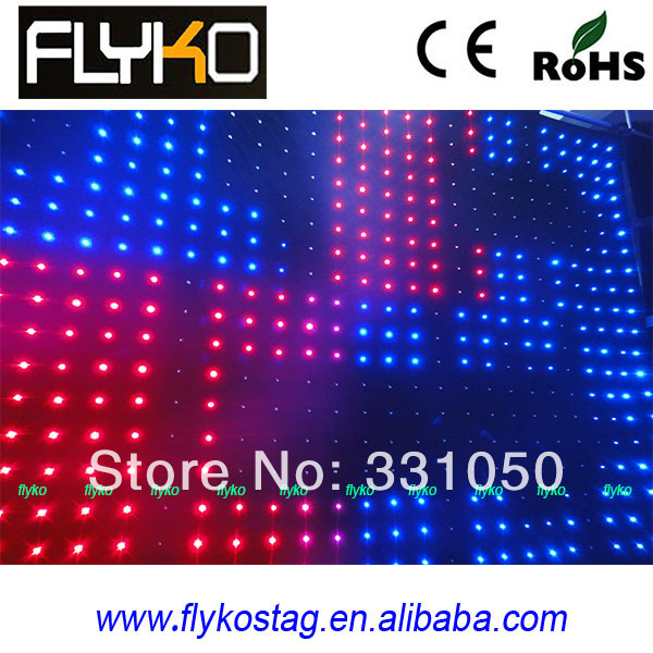LED Video Curtain Star Cloth Matrix Backdrop SD with software