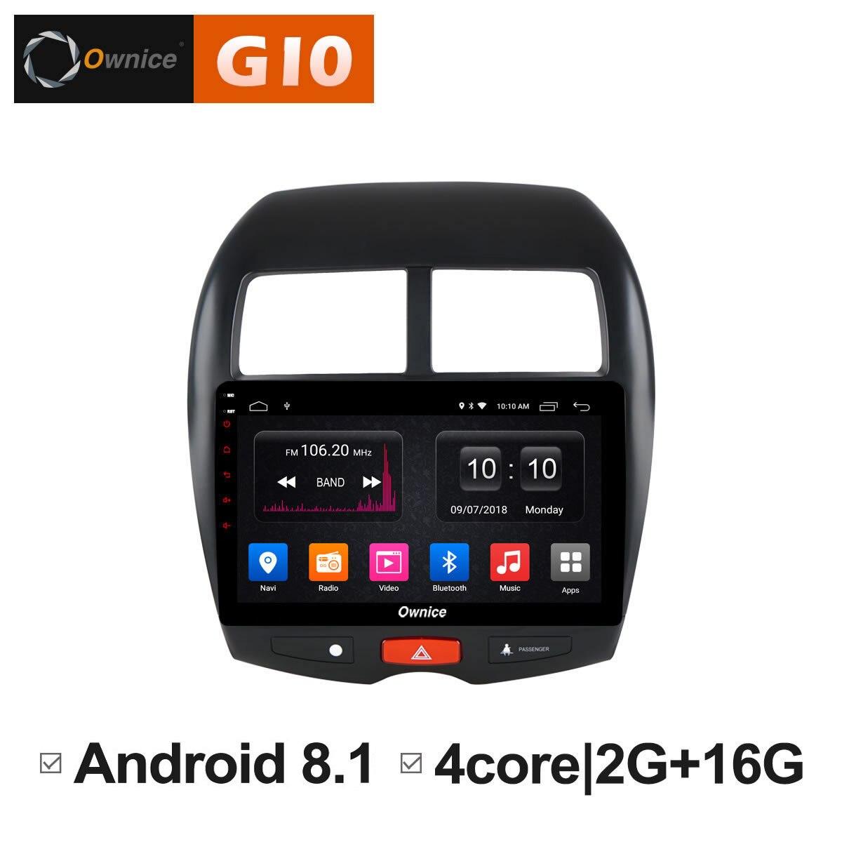 Android 8,1 блок автомобиля Радио DVD мультимедийный плеер gps навигационная система Интеллектуальный DVD ПК для Mitsubishi ASX 2013 2014 2015 2016