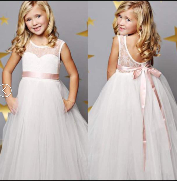 ab6b746c72ee Girls Ankle-Length Dress 2017 Summer New Baby Girl Wedding Dress Kids Lace  Tulle Long Dresses Fashion Childrens Clothes