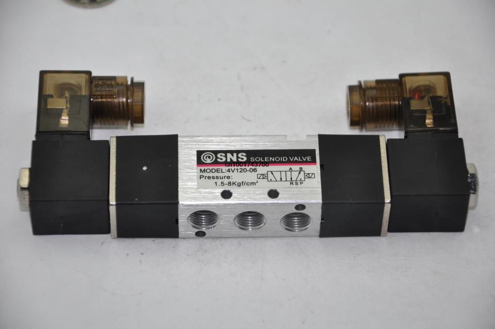 4V120-06 DC24V 1/2''BSPT  2/5way double Coil  control solenoid Magnetically air pneumatic  valve 4v130 06 dc24v 1 8 bspt 3 5way medium closed control solenoid magnetically air pneumatic valve