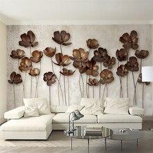Beibehang обои для стен 3 d заказ Железный цветок ретро современный минималистский ТВ задний план papel де parede