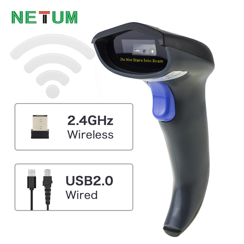 NETUM NT-W8 Wireless 2D Barcode Scanner & Wireless CCD Barcode Reader (2.4GHz Wireless & USB2.0 Wired) for Mobile Screen Payment wireless barcode scanner bar code reader 2 4g 10m laser barcode scanner wireless wired for windows ce blueskysea free shipping