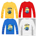children T-shirt 100% cartoon Minions kids full sleeve t-shirts boys girls clothes spring autumn wear