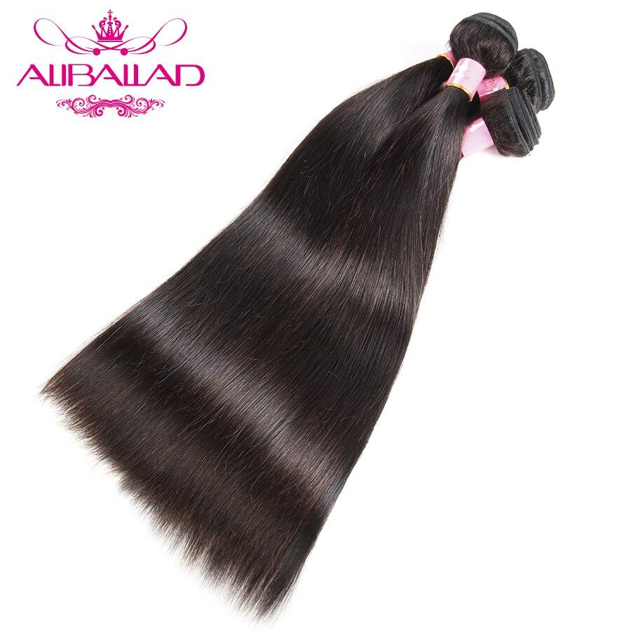 Aliballad Malaysian Straight Hair Natural Color Weave Bundles Double Weft 4pcs Lot Human Hair Bundles Non