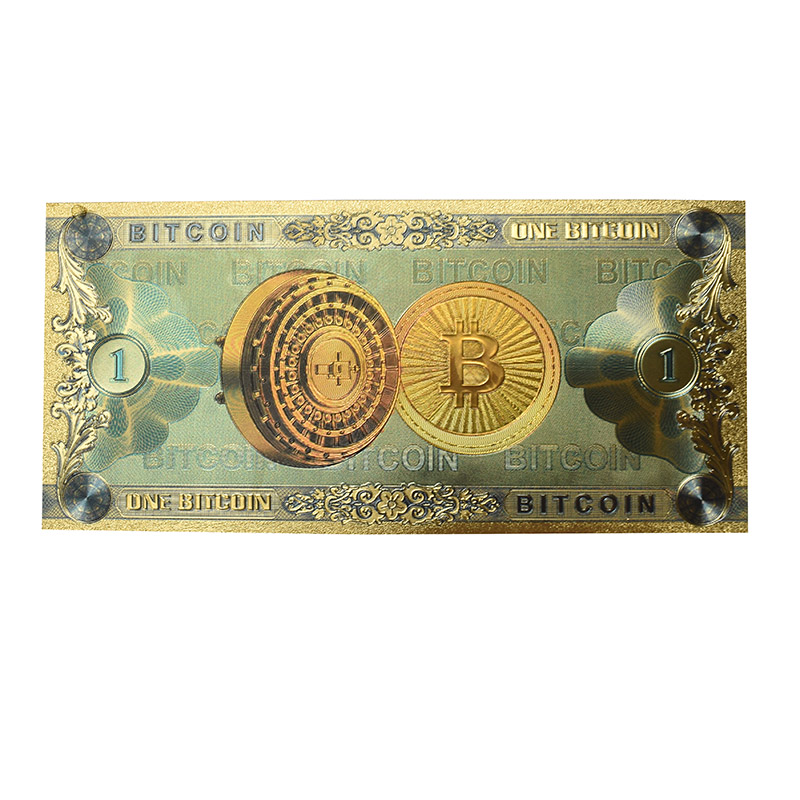 Hot One Bitcoin Banknote Gold Foil BTC Bitcoin coin Plastic cards For Collection-4