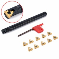1pc SNR0013M16 Tool Holder Boring Bar 10pcs Insert With Wrench For CNC Lathe Threading Turning Tools