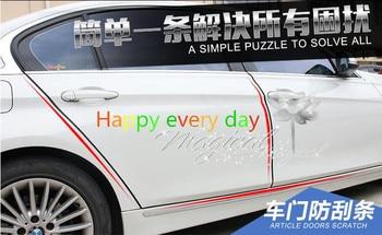 10 m proteção da porta do carro adesivos de borracha para audi a5 a6 c5 c6 q5 q7 s3 tt a4 b8 a4 b6 a3 vw polo golf carro-acessórios de estilo