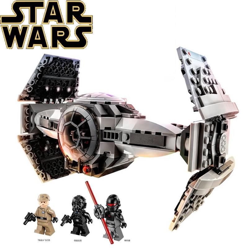New 345pcs Legoings Star Wars Model Building Blocks The Force Awakens TIE Advanced Prototype Fighter Blocks Toys