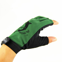 1 Pair Skidproof Resistant Half Finger Pack Fishing Rod Anti-Slip Gloves New