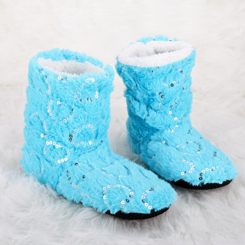 New Winter Warm Women Shoes Soft Bottom Indoor Home Shoes Warm Plush Indoor  For Women Floors Shoes House Fuzzy Slippers plush winter slippers indoor animal emoji furry house home with fur flip flops women fluffy rihanna slides fenty shoes