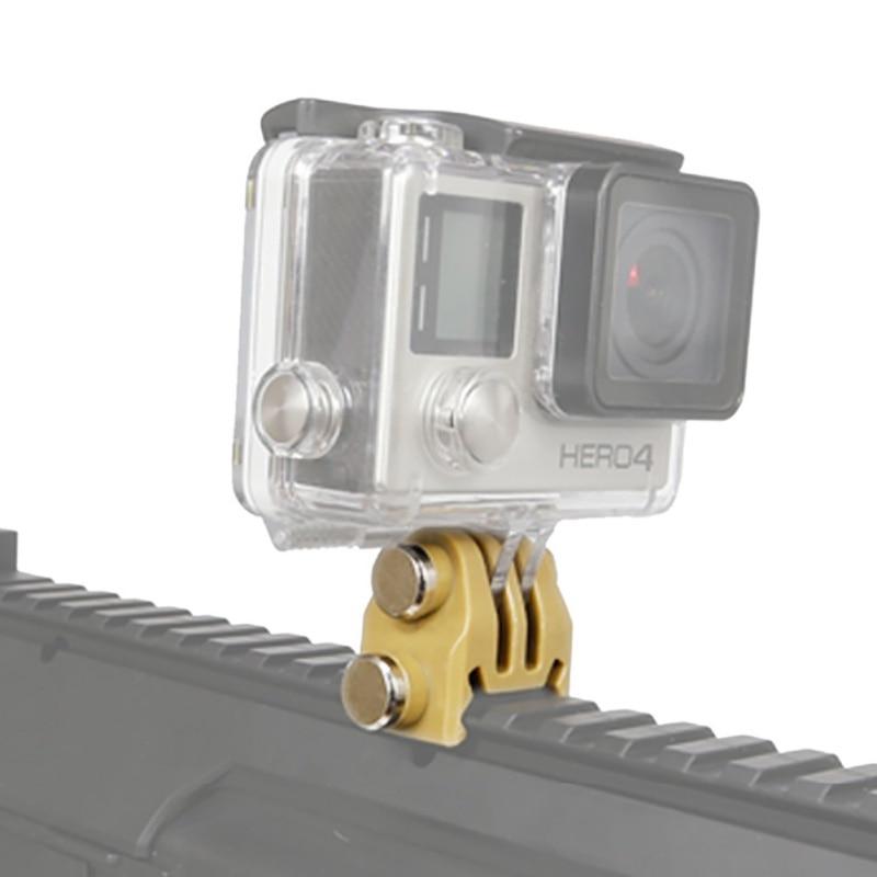 Hunting Accessories 20mm Picatinny Gun Rail Mount Airsoft Gun Adapter Kit For  Action Shot Gun Rifle Hunting Camera Mount