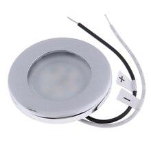 1 Pcs LED Runde Dach Decke Interior Dome Licht Lampe Für Boot Yacht Auto RV 3000k Warmes Licht Edelstahl stahl