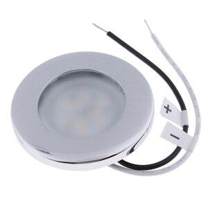 Image 1 - 1 adet LED yuvarlak çatı tavan iç kubbe ışık lambası tekne yat araba RV 3000k sıcak hafif paslanmaz çelik