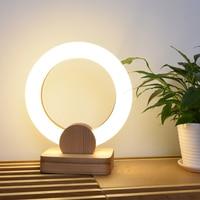 LED Wood table lamps bedroom bedside fixtures desk writing lighting Nordic Novelty luminaires Modern home deco Desk lights