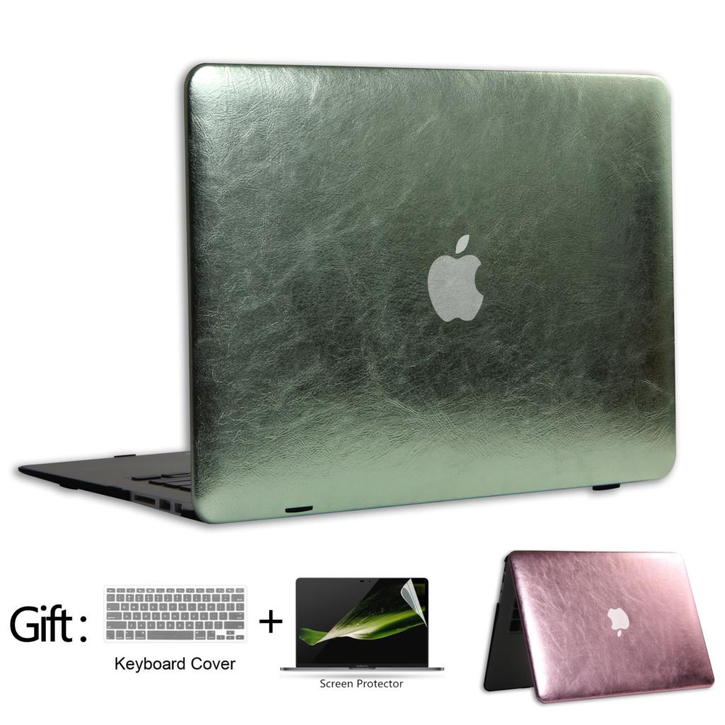 Shine Laptop Shell Case For Macbook Air 13 inch A1369 A1466 For MacBook Case + Screen protector + Keyboard Cover