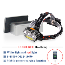 led headlamp COB red light head lamp Power bank charge xml t6 usb headlight head torch lantern 18650 hunting lamp lampe frontale sitemap 33 xml