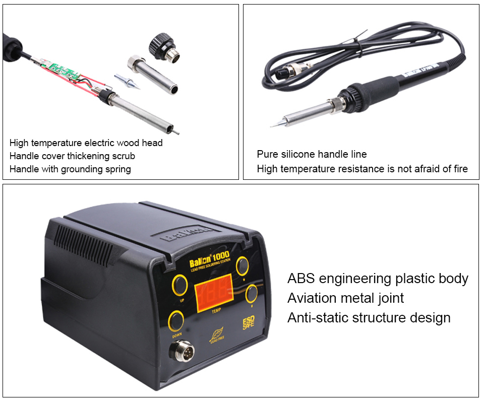 BAKON BK1000 90W High Frequency Digital Soldering Station with Temperature Control System 7