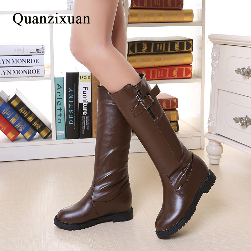 Women Boots Fashion Winter Shoes Women Snow Boots Buckles Knee High Boots Casual Shoes Platform Boots winter boots women