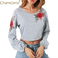 11 11 2017 Hot Sale New Fashion Summer Women Ladies V Neck Long Sleeve Embroidery Loose