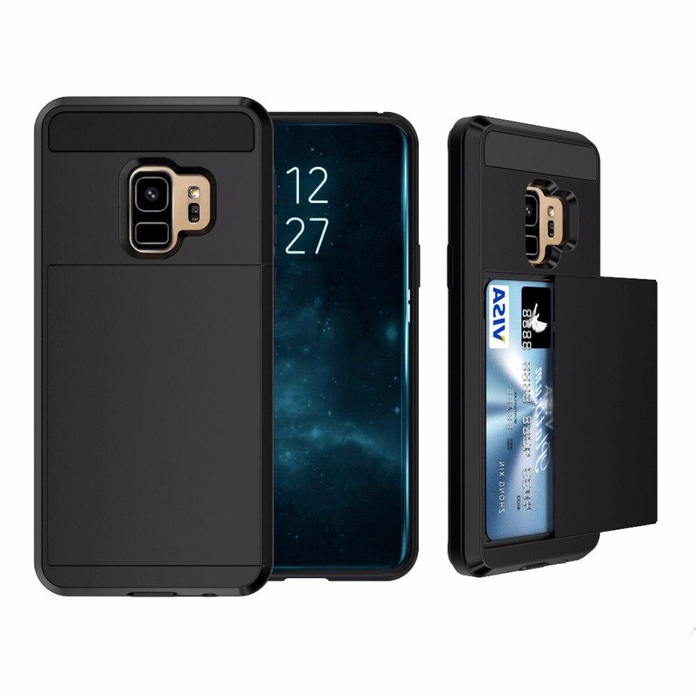 Haweel Съемная dropproof Защитная крышка телефона чехол с ползунком слот для карт Samsung Galaxy S9