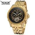 Montre Femme JARAGAR Marca de Luxo Homens de Ouro Automático Mecânica Data Tourbillon Relógio De Pulso Gift Box Free Ship
