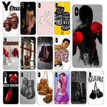 Yinuoda Cartoon Boxing Girl Gloves Soft Silicone Phone Case Cover for Apple iPhone 8 7 6 6S Plus X XS MAX 5 5S SE XR Mobile Case yinuoda animals dogs dachshund soft tpu phone case for apple iphone 8 7 6 6s plus x xs max 5 5s se xr mobile cover