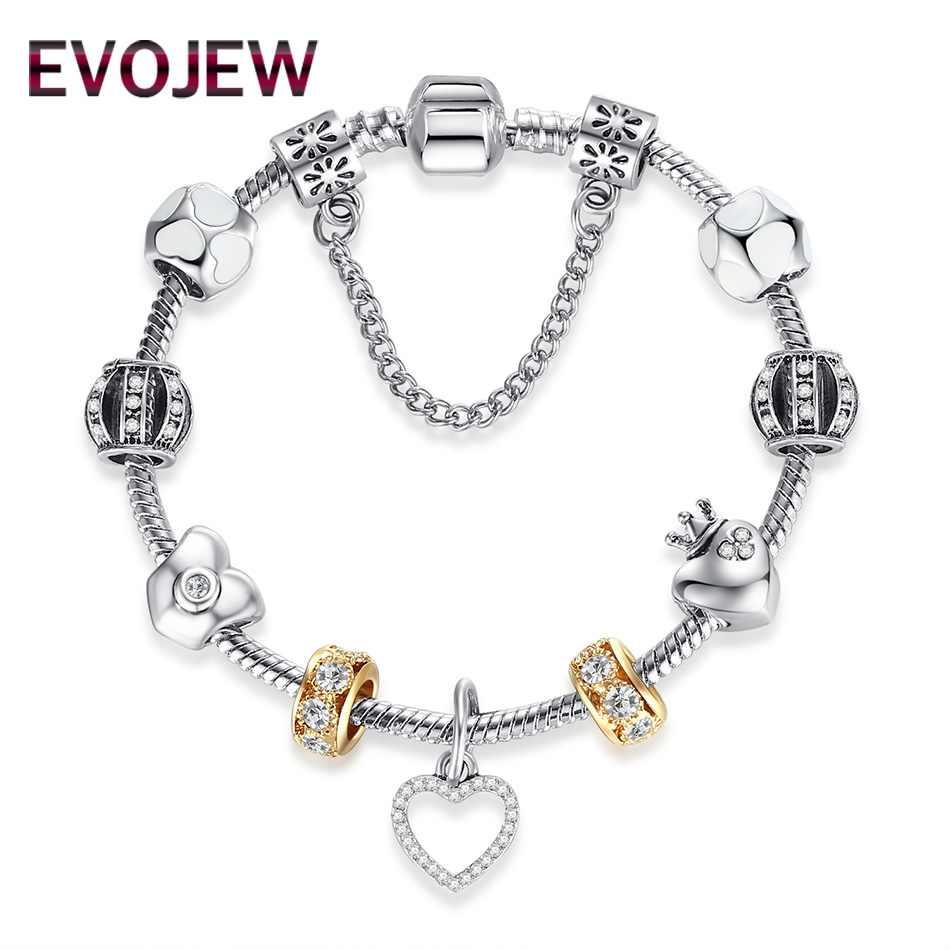 Minimalism Love Heart Charms Pendant Beads Bracelet with