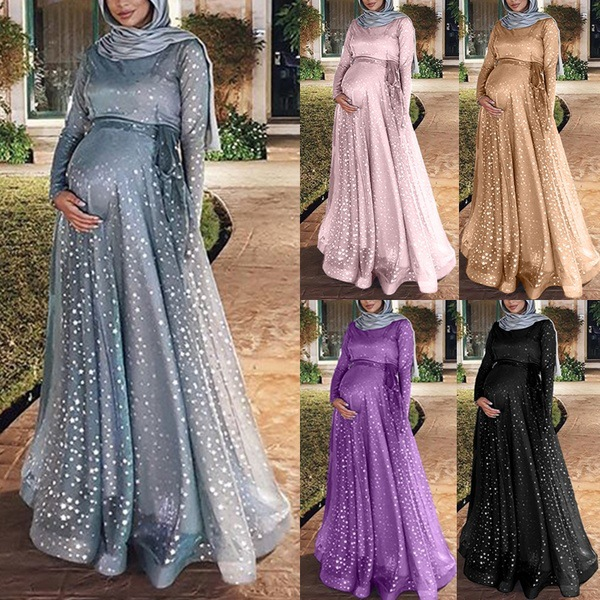 2019 New Arrival Summer And Autumn Muslim Women Plus Size Long Abaya S-5XL