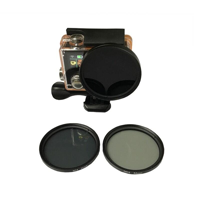 3 teile/los 52mm Neutral Density ND Filter Set ND2/4/8 für Eken H9 H9R h9pro H9SE h9R SE H8PRO H8SE H8 H8R H3 H3R v8s Zubehör