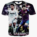 Lionel Messi da Copa do mundo da moda 3d impresso t shirt homens Cristiano Ronaldo roupas o-pescoço manga curta T-shirt barato Cleverley