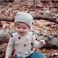 Miniboden Blusas de Inverno Do Bebê Meninos/Meninas Camisola Bola BOBO Choses Crianças Pullover Roupa Linda Kawaii Tops Para Menino Infantil/menina