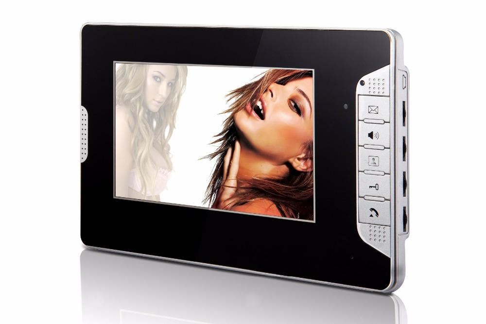 7 inch Color LCD Monitor For Wired Intercom Video Door Phone XLS-V70E Black