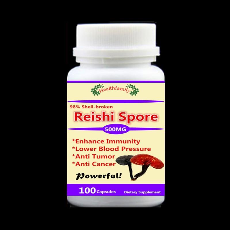 Reishi Spores 98 shell broken Ganoderma lucidum LingZhi Powerful Enhance immunity anti tumor anti cancer 100pcs