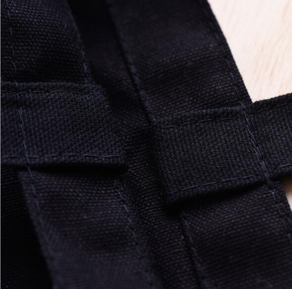 Personnalisé Pliable 2 Coton Shopping Toile Le D'épicerie noir Sacs Réutilisable Couleur Logo Votre Sur Tissu Blanc Sac qxvY7I