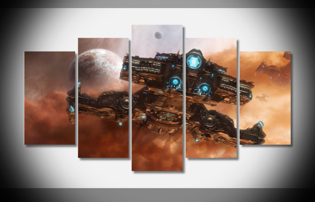 7140 21883 starcraft starcraft 2 battlecruiser poster Framed Gallery wrap art print home wall decor  wall picture Gift Already