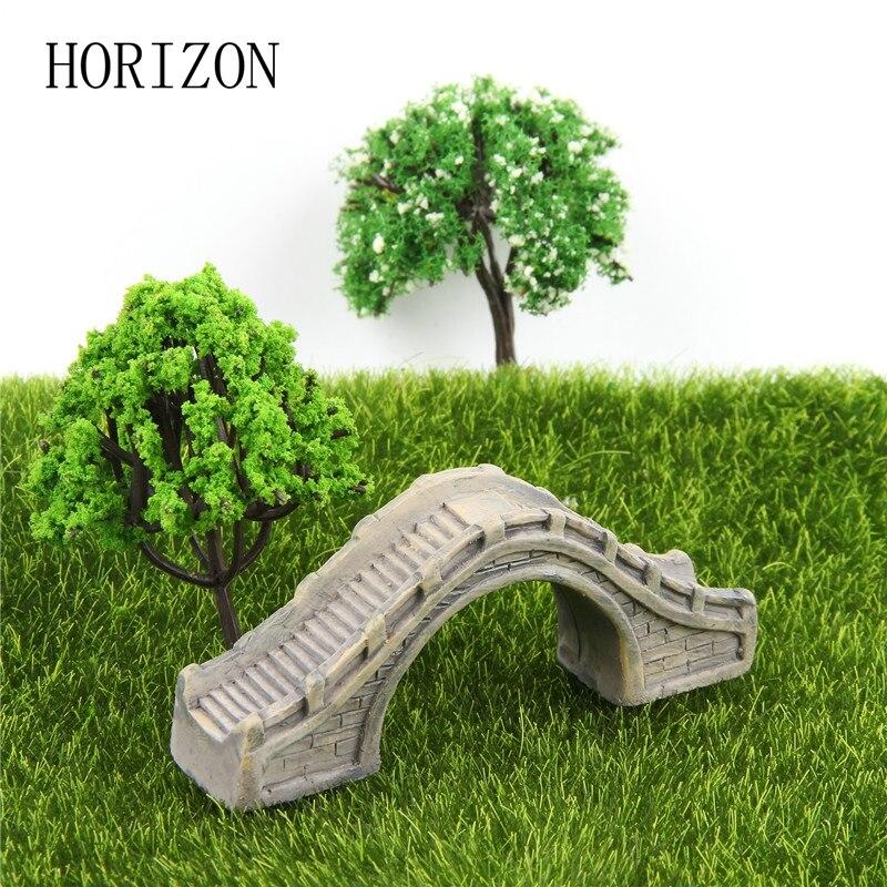 home garden decoration lindo pequeo puente de arco de modelo juguetes muecas de una pieza adornos